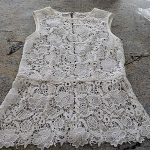 CAbi NWOT lace off white tank top. Super cute!